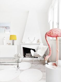 white living room (Est Magazine)