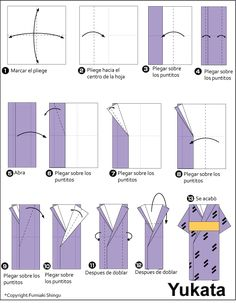 "Origami Yukata"" - design the back and fold and tie in the front"