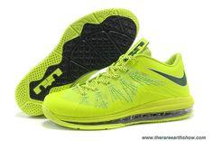 New Lightgreen Black Nike Air Max Lebron 10 Low