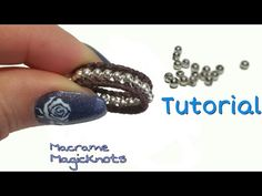 How to Make Quick and Easy Macrame Ring DIY - YouTube