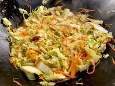Chinese cabbage with wok honey - too lazy to cook? - pan dishes - Chinese cabbage with wok honey – too lazy to cook? Turkey Meat Recipes, Hamburger Meat Recipes, Beef Recipes, Vegetarian Recipes, Healthy Recipes, Cabbage Recipes, Salmon Recipes, Seafood Recipes, Asian Recipes