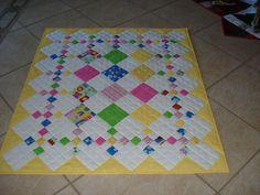Cute scrap quilt.  Diamond Patch Quilt Pattern.