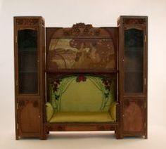 Art nouveau sofa with cabinets by Victoria Morozova. IGMA site