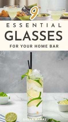 Love throwing parties and can't wait to show off the fancy new bar you set up at home? Whipping up heady cocktails is an art. However, the party experience will be complete when you serve those yummy cocktails in appropriate glasses. Take a look at these types of glassware that you must-have in your home bar. This will give you an idea about the basic shapes of each style of glass. #homedecor #homestuff #cocktailglasses