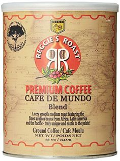 Reggies Roast Cafe De Mundo Blend Ground Coffee 12Ounce Cans Pack of 3 -- Want to know more, click on the image. Note: It's an affiliate link to Amazon.