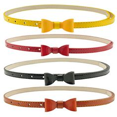 Women's Candy COLor Bow Leather Belt