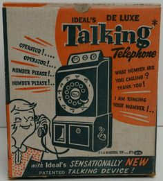 IDEAL: 1950s De Luxe Talking Telephone #Vintage #Toys