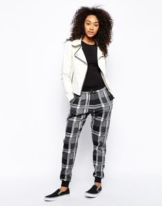 ASOS Joggers in Check