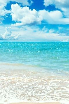 .I love clear blue waters