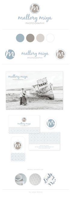 Branding for Mallory Miya Photography by Fly Away Design #brand #design #branding #photography