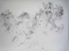fruehsorge | contemporary drawings Morgan O'Hara, LIVE TRANSMISSION: movement of the hands of conductor ULF SCHIRMER, director Deutsches Symphonie Orchester Berlin, Anton Bruckner Symphony Nr.6 / movement: allegro / Philharmony Hall / Berlin, Germany, 20 January 1999, Pencil on paper, 35,7 x 43 cm.