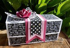 Barbaras Meyer: : Lindas Box - mit Anleitung (mit etwas geändertrten Maßen und Schema-Zeichnung, ansonsten verweis auf das Video von Linda Parker)