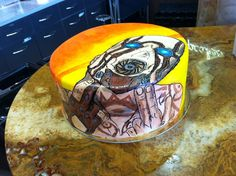 Borderlands Birthday cake, hand painted fondant