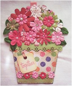 Itzuv With A Touch: Flower Pot Shaped Card