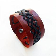 Cuff Bracelet,Bracelet for men,Leather Wristbands,stand bracetet,Mens personalized jewelry,Genuine leather,Boho Jewelery,Free Shipping by konstcreations on Etsy