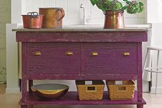Photo: Wendell T. Webber | thisoldhouse.com | from How to Paint a Crackle Finish on Furniture