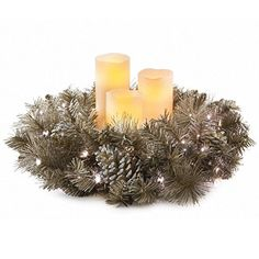 LED Wreath with Flameless Candles *** This is an Amazon Affiliate link. Read more reviews of the product by visiting the link on the image.
