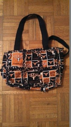 Longhorn rag quilt purse by by Karenskreations2011 on Etsy, $35.00