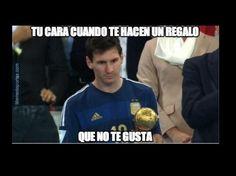 Messi y Balon de Oro Mundial Brasil 2014