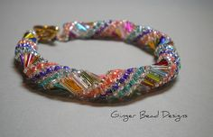 Bugle Bead Russian Spiral by ginger bead designs