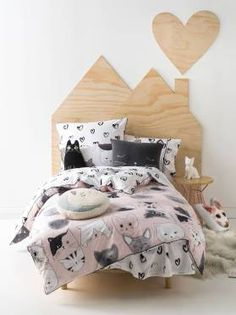 KITTYCAT KIDS QUILT COVERS SINGLE PINK QUILT COVER SETS
