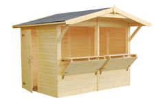 serving bar with shutter | ... uniquely designed garden shed with large serving hatchs and bar