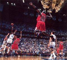 Michael Jordan wearing Air Jordan 14