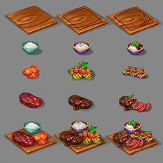 Starbucks Art, Creating Games, Cooking Game, Food Plus, Weapon Concept Art, Doodle Inspiration, Food Concept, Game Item, Game Assets
