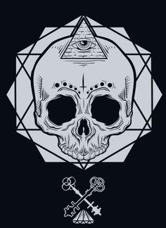 Skull on Behance Skull Logo, Skull Art, Skeleton Pics, Bull Tattoos, Fanart, Ink Illustrations, Skull And Bones, Memento Mori, Sacred Geometry
