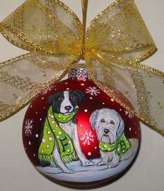 Custom Dog Christmas Ornament  Let it Snow Design  2 by susansipes, $35.00