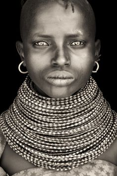 Little Lady from Turkana area, Northern Kenya by Mario Gerth