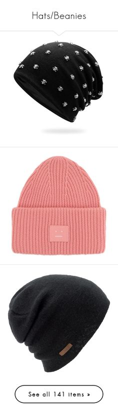 """""""Hats/Beanies"""" by demonictrinity ❤ liked on Polyvore featuring men's fashion, men's accessories, men's hats, hats, accessories, mens beanie hats, accessories - hats, beanies, pink and pink beanie"""