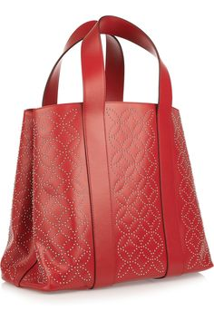 AlaïaStudded leather tote Would be nice in denim, with the sashiko embroidery