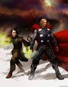 Loki and Thor -- concept art by Marvel's Ryan Meinerding