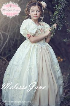 A special and memorable dress for her first communion or as a sweet and whimsical flower girl dress, toddler dress or princess ball gown.