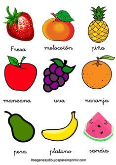 memorama de frutas y verduras para imprimir   Imagenes y dibujos para imprimir Preschool Science Activities, Toddler Activities, Body Parts For Kids, Learning Colors, Fruits And Vegetables, Pineapple, Crafts, Spanish Class, Teaching Spanish