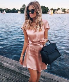 20 Cheap Dresses That Look Designer Deciding what to wear can be made easier by choosing a dress. These cheap dresses come in all different styles for any occasion! Gold Satin Dress, Pink Silk Dress, Satin Dresses, Silk Skirt, Pink Satin, Cheap Dresses, Cute Dresses, Casual Dresses, Summer Dresses