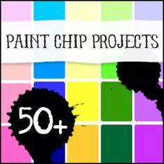 Hauskoja ideoita maalien värilastuista / Over 50 Paint Chip Crafts to Make from Saved By Love Creations Cute Crafts, Creative Crafts, Crafts To Make, Diy Crafts, Paper Crafts, Paper Paper, Recycled Crafts, Kraft Paper, Tissue Paper