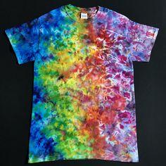 dc09e592519 Size Small Tie Dye Shirt • Rainbow Splatter Ice Dye T-Shirt