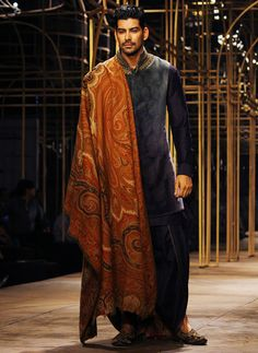 A Tarun Tahiliani creation Indian Men Fashion, Mens Fashion Week, Bridal Fashion Week, Groom Fashion, Men's Fashion, Sherwani Groom, Mens Sherwani, Wedding Dress Men, Wedding Outfits