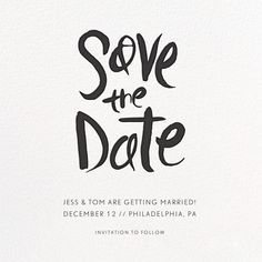 Ink Save The Date Online At Paperless Post
