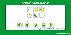 Spatial visualization practice Q for the #NNAT: Can your child solve it?