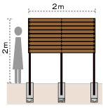 サーモウッドでお庭の目隠しフェンス|お庭・デザイン・エクステリア グリーンケア