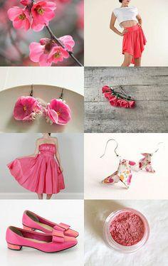 Spring Quince Bridal by Deborah Alysoun on Etsy--Pinned with TreasuryPin.com