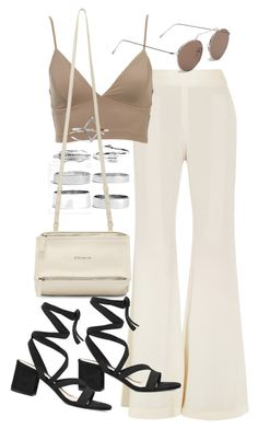 """""""Untitled #19973"""" by florencia95 ❤ liked on Polyvore featuring E L L E R Y, Boohoo, Givenchy, Illesteva and Gianvito Rossi"""