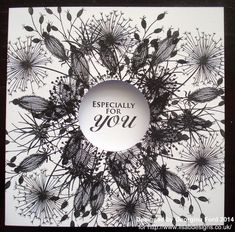 It& Georgina with my Friday post. Today I have a monochrome card to share with you using the lovely Woodware Going to Seed clear . Birthday Cards For Women, Handmade Birthday Cards, Card Making Inspiration, Making Ideas, Cardio Cards, Craftwork Cards, Flora, Paper Cards, Cool Cards