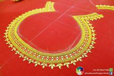Mirror Work Blouse Design, Orange Blouse, Blouse Designs, Stitching, Embroidery, Bridal, Diamond, Jewelry, Fashion