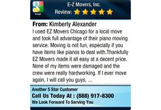 I used EZ Movers Chicago for a local move and took full advantage of their piano moving...
