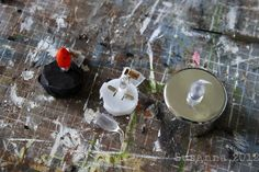 fire - using battery operated tea light (how to take apart)