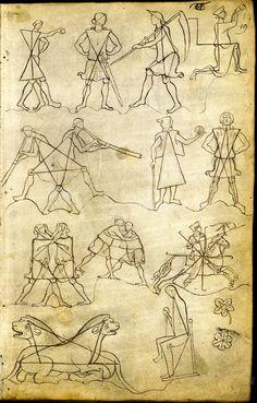 Le carnet de Villard de Honnecourt (vers 1220-1230), fol. 37 - Paris, Bibliothèque nationale de France, Département des manuscrits, Français 19093